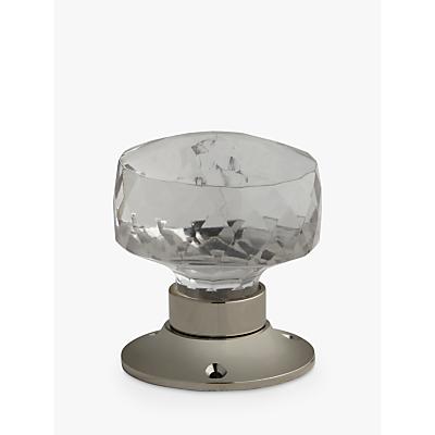 John Lewis Deep Glass Mortice Knob, Pair, Dia.70mm