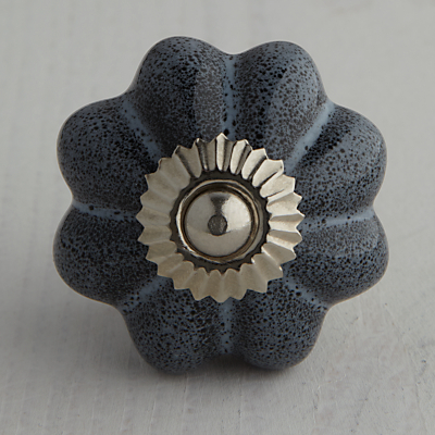 Bombay Duck Ceramic Speckled Flower Cupboard Knob, Dia.45mm