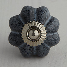 Buy Bombay Duck Ceramic Speckled Flower Cupboard Knob, Dia.45mm Online at johnlewis.com