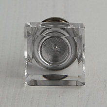 Buy John Lewis Glass Cube Cupboard Knob, Dia.37mm Online at johnlewis.com