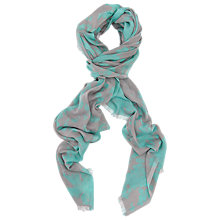 Buy French Connection Blow Out Scarf, Grey Hawaii Surf Online at johnlewis.com