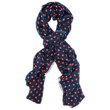 Buy French Connection Super Spot Scarf, Nocturnal/Holiday Crush Online at johnlewis.com