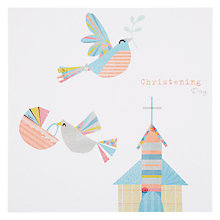 Buy Card Mix Birds Above Church Communion Greeting Card Online at johnlewis.com