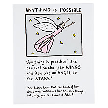 Buy Really Good Anything is Possible Birthday Card Online at johnlewis.com