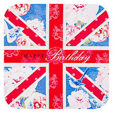 Buy Card Mix Union Jack With Royal Arms Birthday Card Online at johnlewis.com