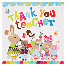 Buy Card Mix Teacher Surrounded By Pupils Thank You Card Online at johnlewis.com
