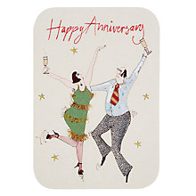 Buy Woodmansterne Cha Cha Love Anniversary Card Online at johnlewis.com