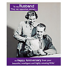 Buy Pigment Opposites Attract Husband Anniversary Card Online at johnlewis.com