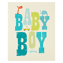 Buy Art File Baby Boy New Baby Card Online at johnlewis.com