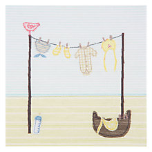 Buy Art Press Baby's Crib New Baby Greeting Card Online at johnlewis.com