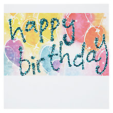Buy Blue Eyed Sun Birthday Balloons Birthday Card Online at johnlewis.com