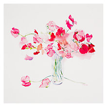 Buy Woodmansterne Sweet Peas Thank You Card Online at johnlewis.com
