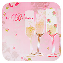 Buy Card Mix Champagne Flutes Birthday Card Online at johnlewis.com