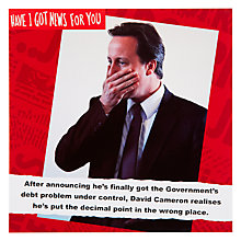 Buy Card Mix David Cameron Greeting Card Online at johnlewis.com