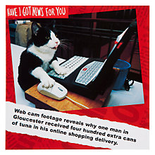 Buy Card Mix Internet Shopping Cat Greeting Card Online at johnlewis.com