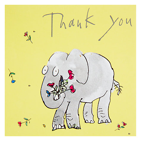 Buy Woodmansterne Zagazoo Elephant Thank You Greeting Card Online at johnlewis.com