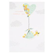 Buy Card Mix Giraffe Balloon New Baby Greeting Card Online at johnlewis.com