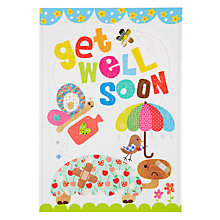 Buy Card Mix Tortoise with Bandage Get Well Card Online at johnlewis.com