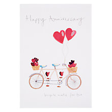 Buy Woodmansterne A Bicycle Made For Two Anniversary Card Online at johnlewis.com