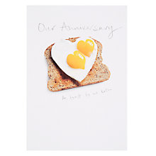 Buy Woodmansterne Sunny Side Up Anniversary Card Online at johnlewis.com