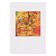 Buy Woodmansterne Autumn Tree Sympathy Card Online at johnlewis.com