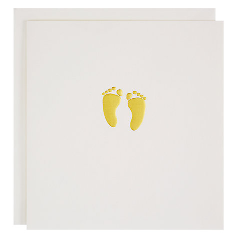 Buy Caroline Gardner Baby Feet New Baby Greeting Card Online at johnlewis.com
