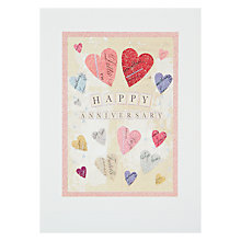 Buy James Ellis Stevens Heart Anniversary Card Online at johnlewis.com