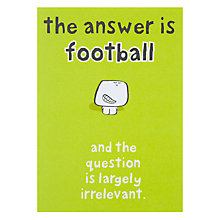 Buy Paperlink Answer Is Football Greeting Card Online at johnlewis.com