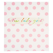 Buy Caroline Gardner New Baby Girl Greeting Card Online at johnlewis.com