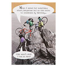 Buy Pigment Men Holding Bikes On Cliff Top Birthday Card Online at johnlewis.com