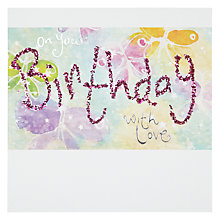Buy Blue Eyed Sun With Love Birthday Card Online at johnlewis.com