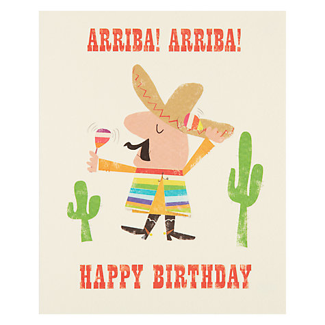 Buy Art File Arriba Birthday Card Online at johnlewis.com