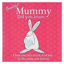 Buy The Little Dog Laughed Beautiful Mummy Birthday Card Online at johnlewis.com
