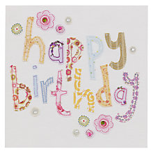 Buy Blue Eyed Sun Vintage Text Birthday Card Online at johnlewis.com
