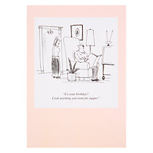Buy Woodmansterne Birthday Dinner Treat Birthday Card Online at johnlewis.com
