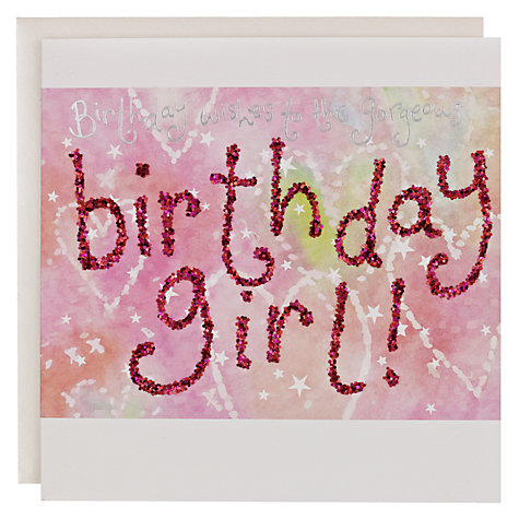 Buy Blue Eyed Sun Birthday Girl Card Online at johnlewis.com