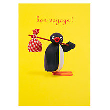 Buy Hype Bon Voyage Pingu Leaving Card Online at johnlewis.com