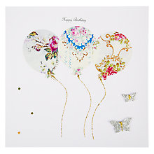 Buy Evie & Me Balloons And Butterflies Birthday Card Online at johnlewis.com