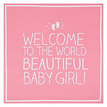 Buy Pigment Beautiful Baby Girl Greeting Card Online at johnlewis.com