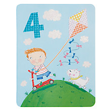 Buy James Ellis Stevens Boy 4th Birthday Card Online at johnlewis.com