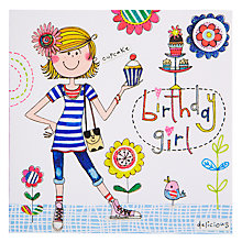 Buy Rachel Ellen Birthday Girl and Cupcakes Birthday Card Online at johnlewis.com