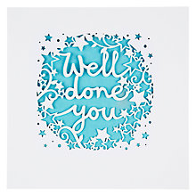Buy Lacie Well Done You Card Online at johnlewis.com