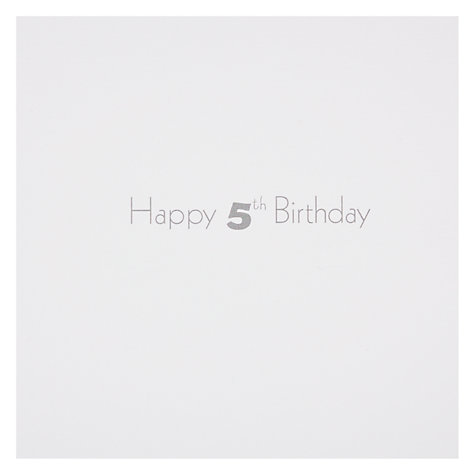 Buy Woodmansterne Crocodile Blowing Out Candle 5th Birthday Card Online at johnlewis.com