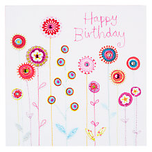 Buy Blue Eyed Sun Vintage Birthday Stems Card Online at johnlewis.com