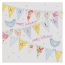 Buy Blue Eyed Sun Vintage Birthday Bunting Birthday Card Online at johnlewis.com