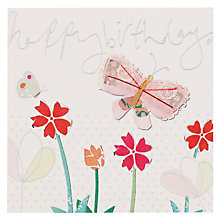 Buy Caroline Gardner Butterflies and Flowers Birthday Card Online at johnlewis.com