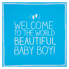 Buy Pigment Beautiful Baby Boy Greeting Card Online at johnlewis.com