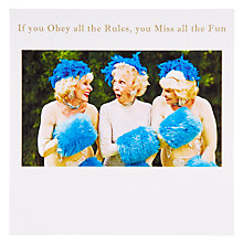 Buy Susan O'Hanlon Women With Blue Fur Greeting Card Online at johnlewis.com