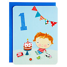 Buy James Ellis Stevens Boy 1st Birthday Card Online at johnlewis.com
