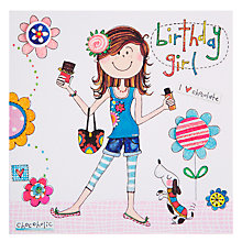 Buy Rachel Ellen Chocolate Girl Birthday Card Online at johnlewis.com